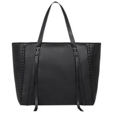 Buy AllSaints Ray Lea Leather East West Tote Bag, Black Online at johnlewis.com