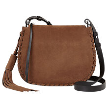 Buy AllSaints Mori Suede Cross Body Bag Online at johnlewis.com