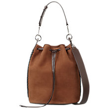 Buy AllSaints Ray Leather Bucket Bag Online at johnlewis.com