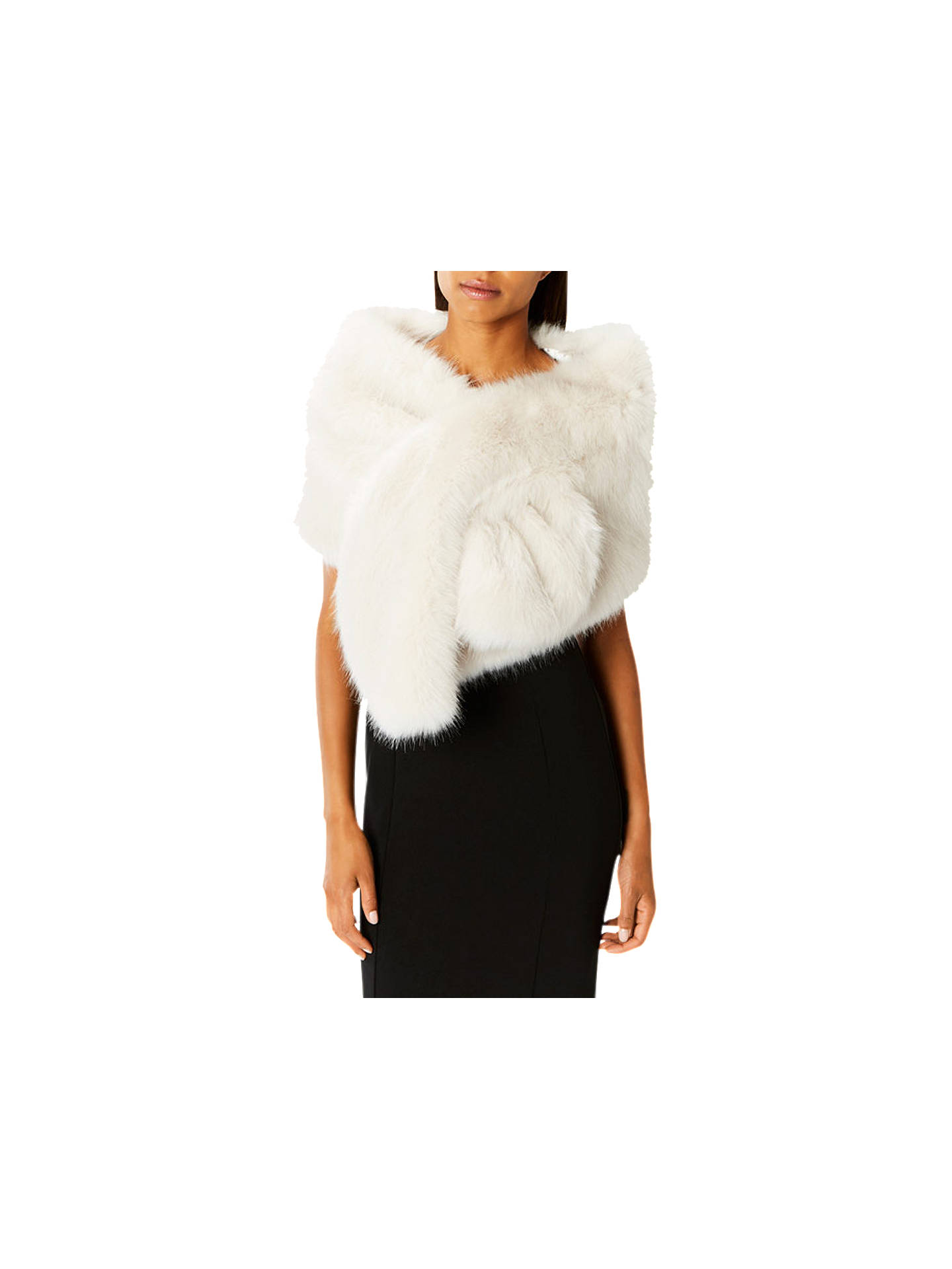 eaa9049e5 Buy Oasis Luella Faux Fur Scarf, Ivory Online at johnlewis.com ...