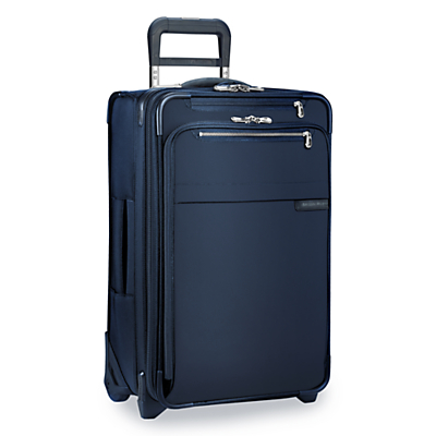 Briggs & Riley Baseline Carry-On Expandable 2-Wheel 56cm Cabin Suitcase, Navy