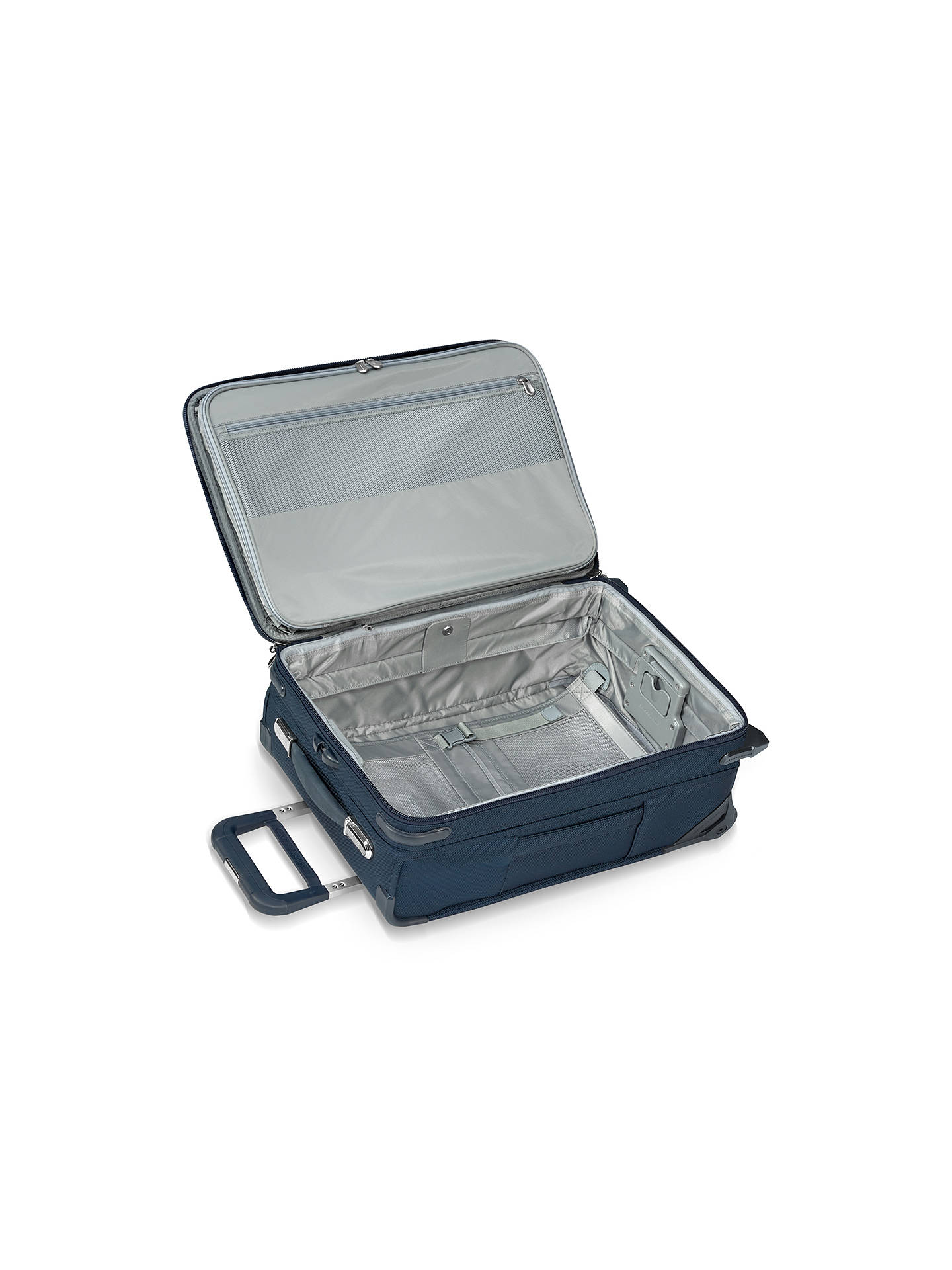 Buy Briggs & Riley Baseline Carry-On Expandable 2-Wheel 56cm Cabin Suitcase, Navy Online at johnlewis.com