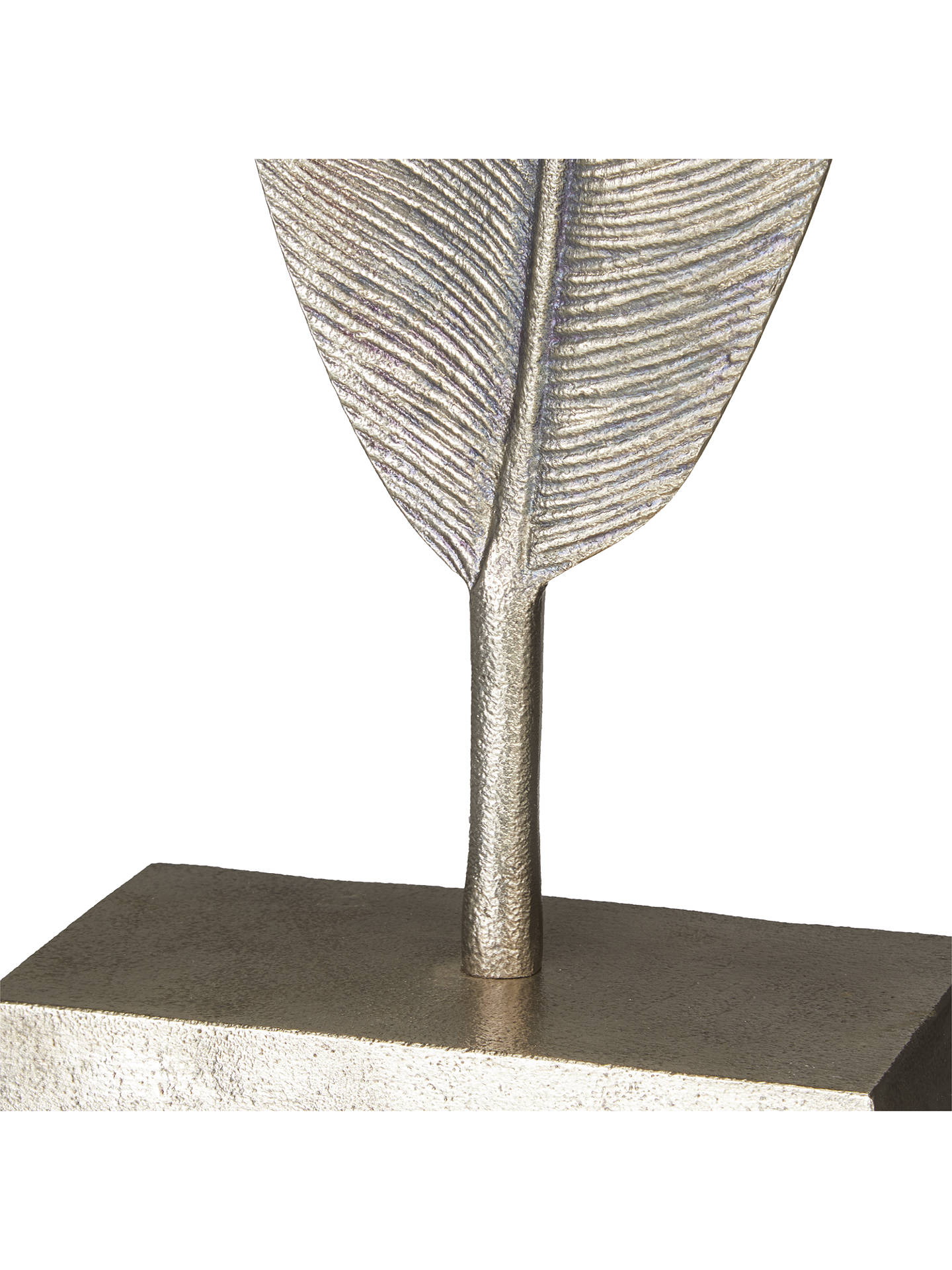 BuyJohn Lewis & Partners Feather Sculpture, Silver Online at johnlewis.com