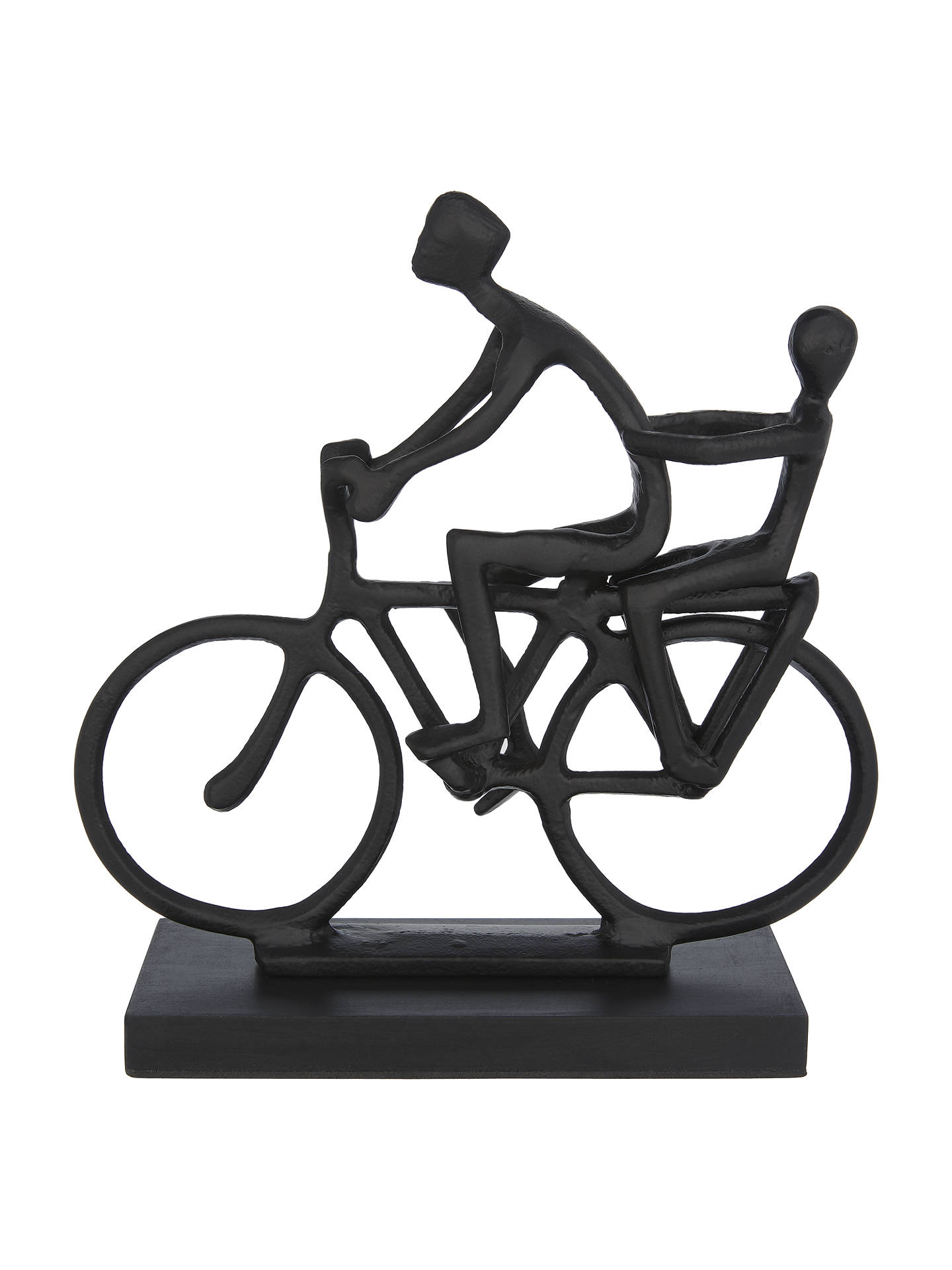 BuyJohn Lewis & Partners Cyclist With Child Sculpture, Black Online at johnlewis.com