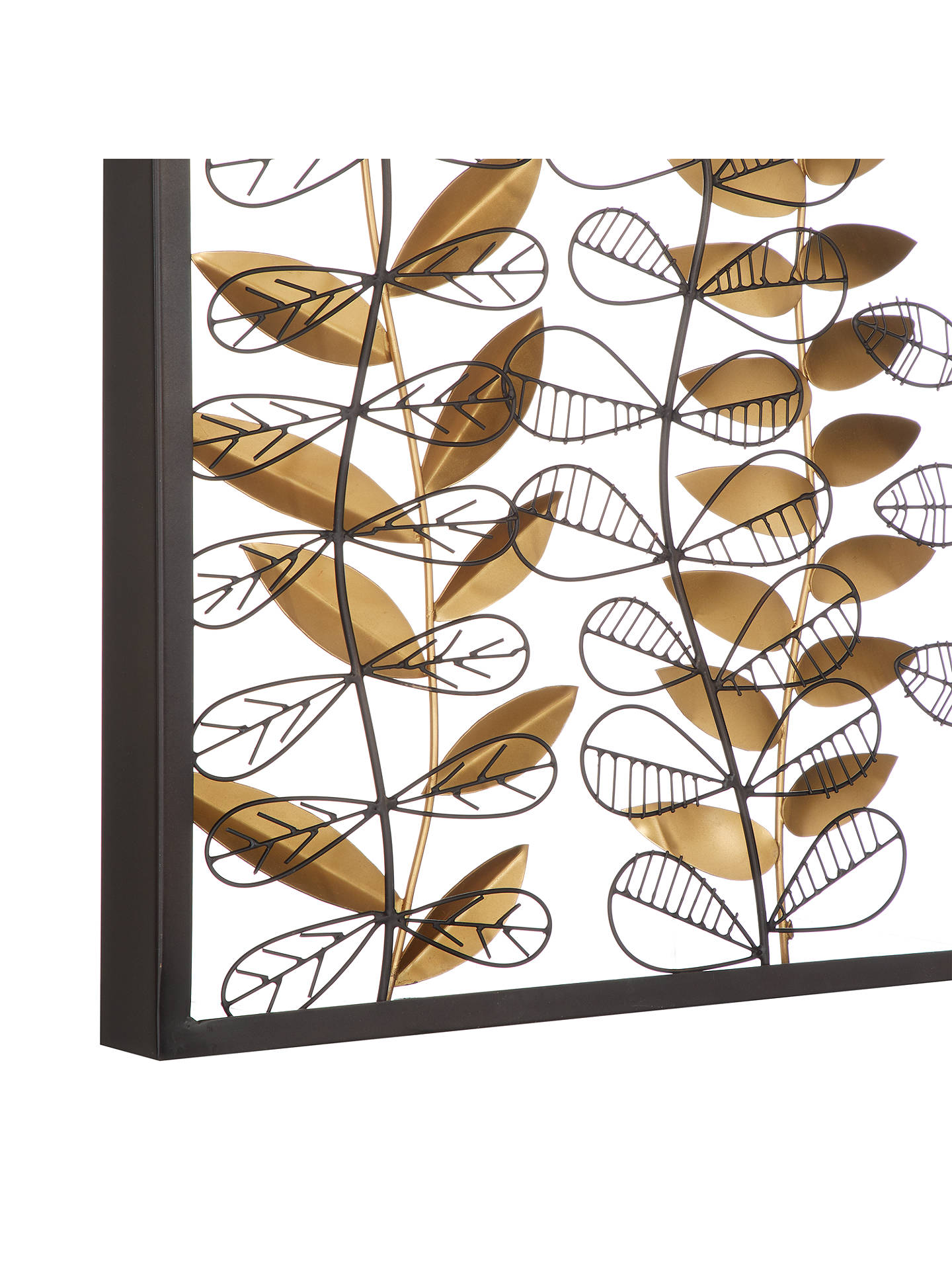 BuyJohn Lewis & Partners Framed Leaves Wall Sculpture, Black/Gold Online at johnlewis.com