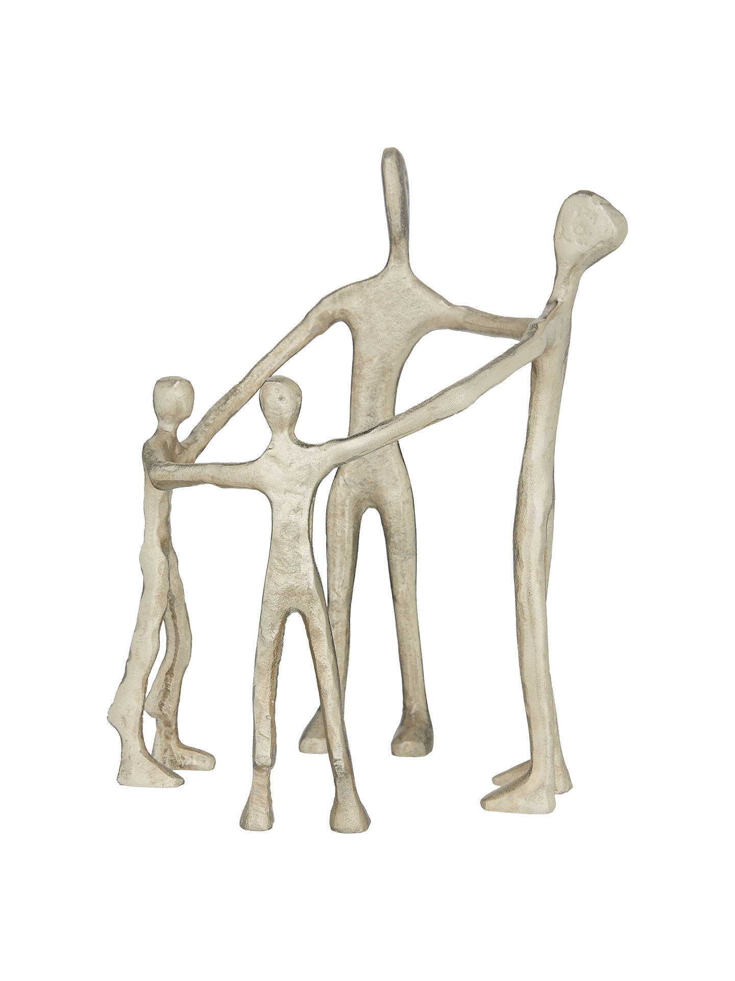 BuyJohn Lewis & Partners Family Circle of Four Sculpture, Silver Online at johnlewis.com