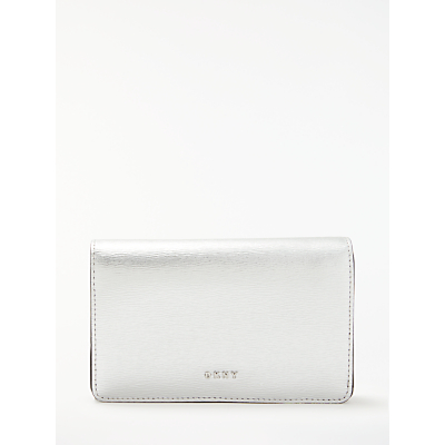 DKNY Bryant Park Saffiano Leather Medium Purse, Silver