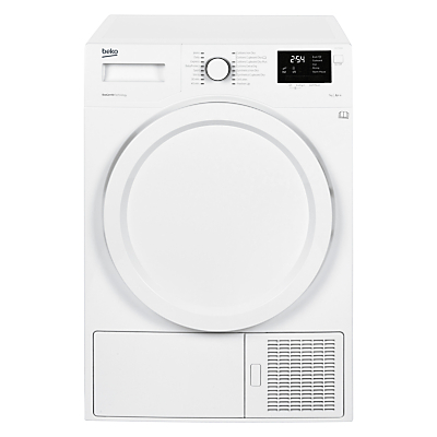 Beko DHY7340W Heat Pump Tumble Dryer, 8kg Load, A++ Energy Rating, White