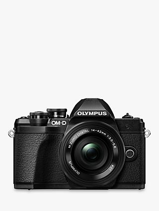 "Olympus OM-D E-M10 Mark III Compact System Camera with 14-42mm EZ Lens, 4K Ultra HD, 16.1MP, Wi-Fi, EVF, 3"" LCD Tiltable Touch Screen"
