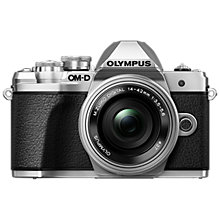 "Buy Olympus OM-D E-M10 Mark III Compact System Camera with 14-42mm EZ Lens, 4K Ultra HD, 16.1MP, Wi-Fi, EVF, 3"" LCD Tiltable Touch Screen Online at johnlewis.com"