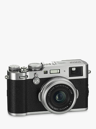"Buy Fujifilm X100F Digital Compact Camera with 23mm Lens, 1080p Full HD, 24.3MP, Wi-Fi, Hybrid EVF/OVF, 3"" LCD Screen, Silver Online at johnlewis.com"
