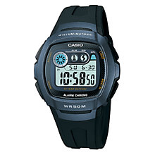 Buy Casio Unisex Core W-210 Resin Strap Watch, Black Online at johnlewis.com