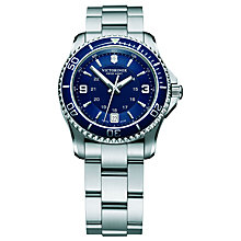 Buy Victorinox Women's Maverick Date Bracelet Strap Watch Online at johnlewis.com