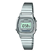 Buy Casio LA670WEA-7EF-HB Unisex Core Bracelet Strap Watch, Silver/Grey Online at johnlewis.com