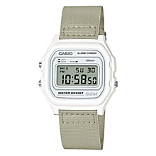 Buy Casio Unisex Core Casual Fabric Strap Watch Online at johnlewis.com