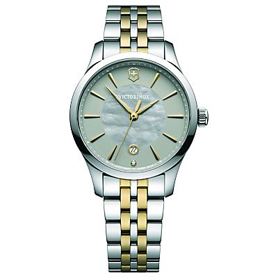 Victorinox 241753 Alliance Women's Bracelet Strap Watch, Silver/Gold