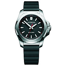Buy Victorinox Women's I.N.O.X Date Rubber Strap Watch Online at johnlewis.com