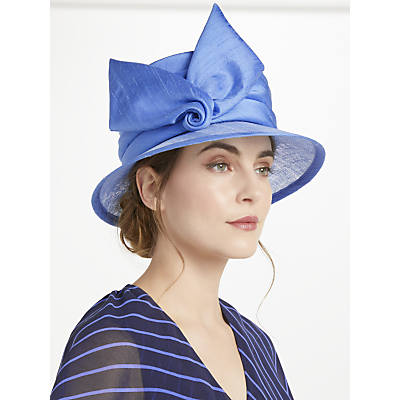 Whiteley Thalia Down Brim Occasion Hat, Bluebell Blue