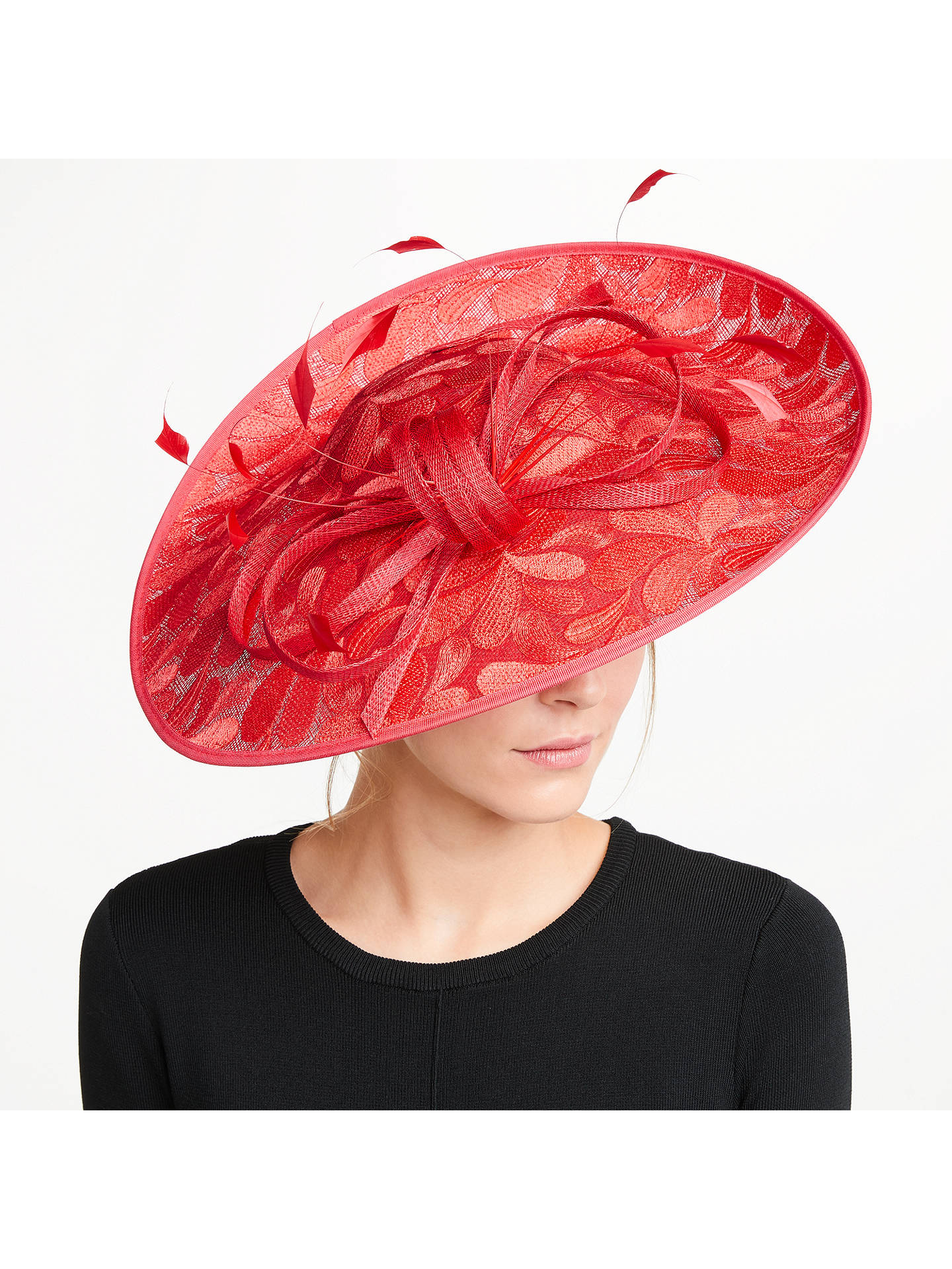 b656b2d5899eb Buy Vixen Millinery Skyler Lace Effect Occasion Hat