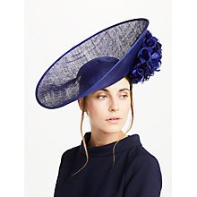 Buy John Lewis Petal Hydrangea Side Disc Occasion Hat, Cobalt Online at johnlewis.com