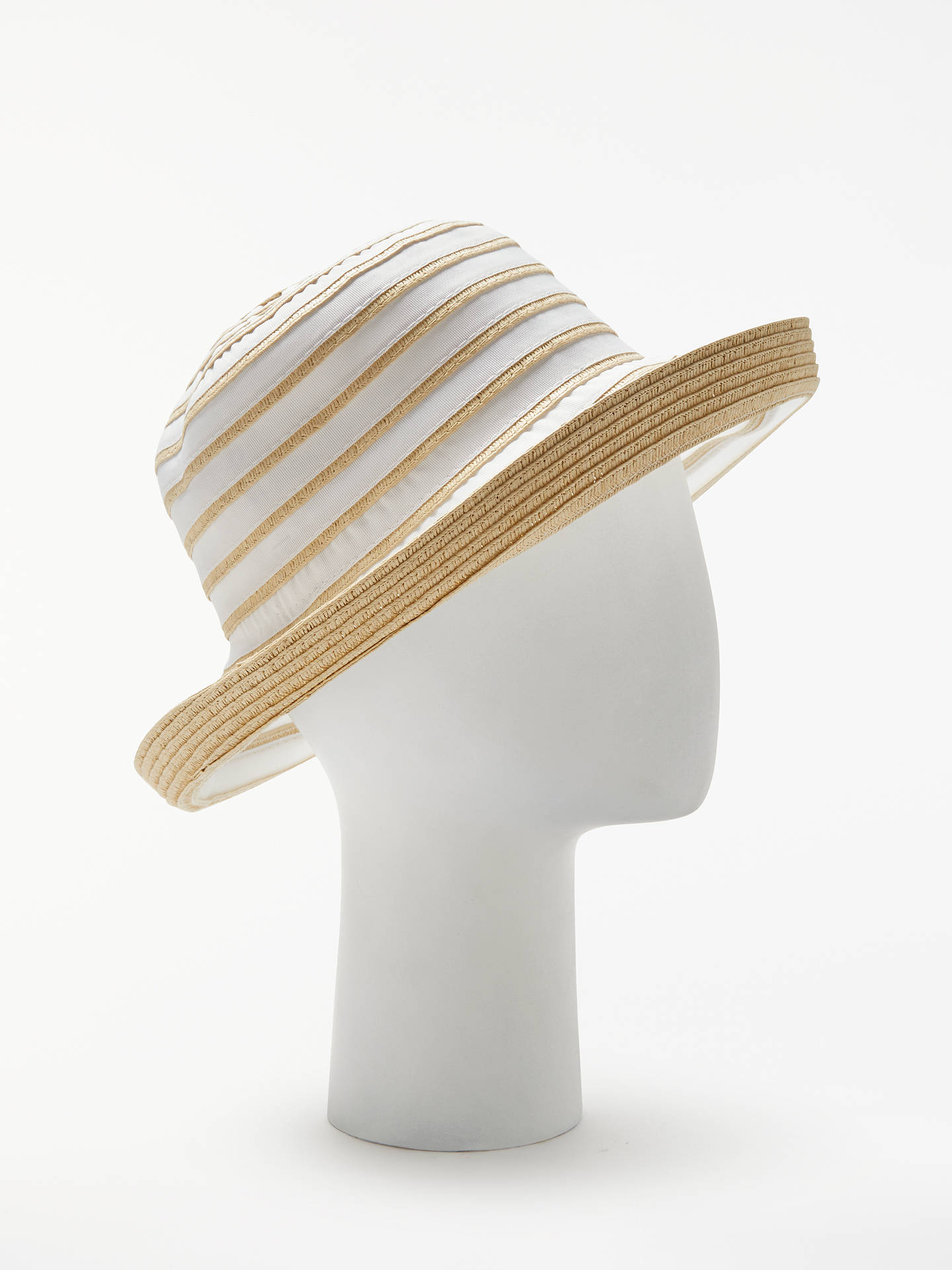 e69fcc3c Buy John Lewis & Partners Packable Braid and Ribbon Garden Hat,  White/Natural Online ...