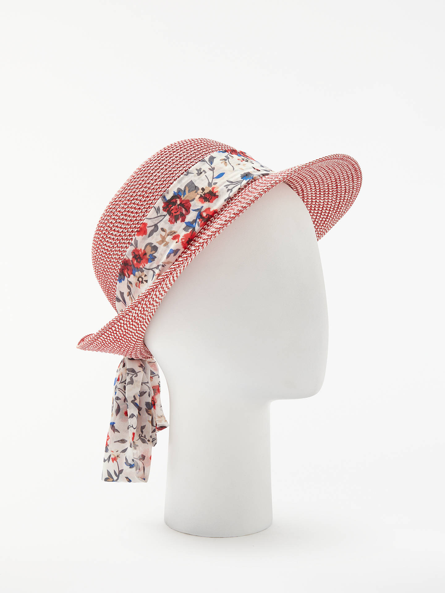 cbac1ef91fa99 John Lewis   Partners Packable Turn Up Brim Floral Ribbon Sun Hat ...
