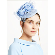Buy John Lewis Sophie Pillbox Rose Fascinator, Bluebell Blue Online at johnlewis.com