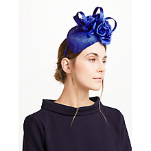 Buy John Lewis Sam Pillbox Fascinator, Cobalt Online at johnlewis.com