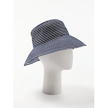 Buy John Lewis Packable Stripe Floppy Sun Hat, Navy/White Online at johnlewis.com