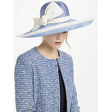 Buy Whiteley Charlie Upturn Disc Bow Occasion Hat, Ivory/Bluebell Online at johnlewis.com