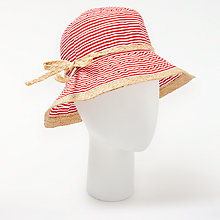 Buy John Lewis Striped Ribbon Straw Hat Online at johnlewis.com
