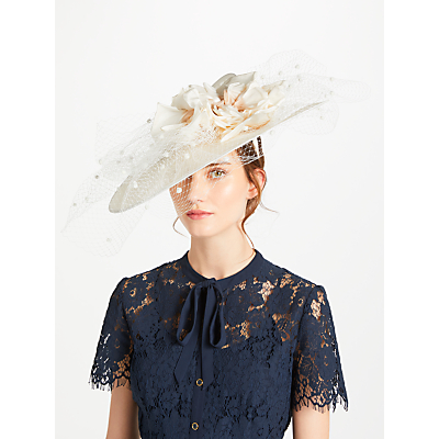 Snoxells Hilary Twisted Disc Veil Occasion Hat, Champagne