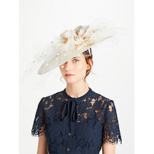 Buy Snoxells Hilary Twisted Disc Veil Occasion Hat, Champagne Online at johnlewis.com