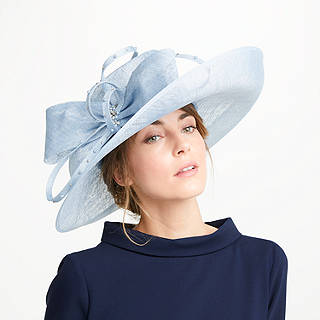 John Lewis Mable Side Up Brim With Embellished Bow Occasion Hat