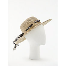 Buy John Lewis Glam Floppy Sun Hat, Natural Mix Online at johnlewis.com