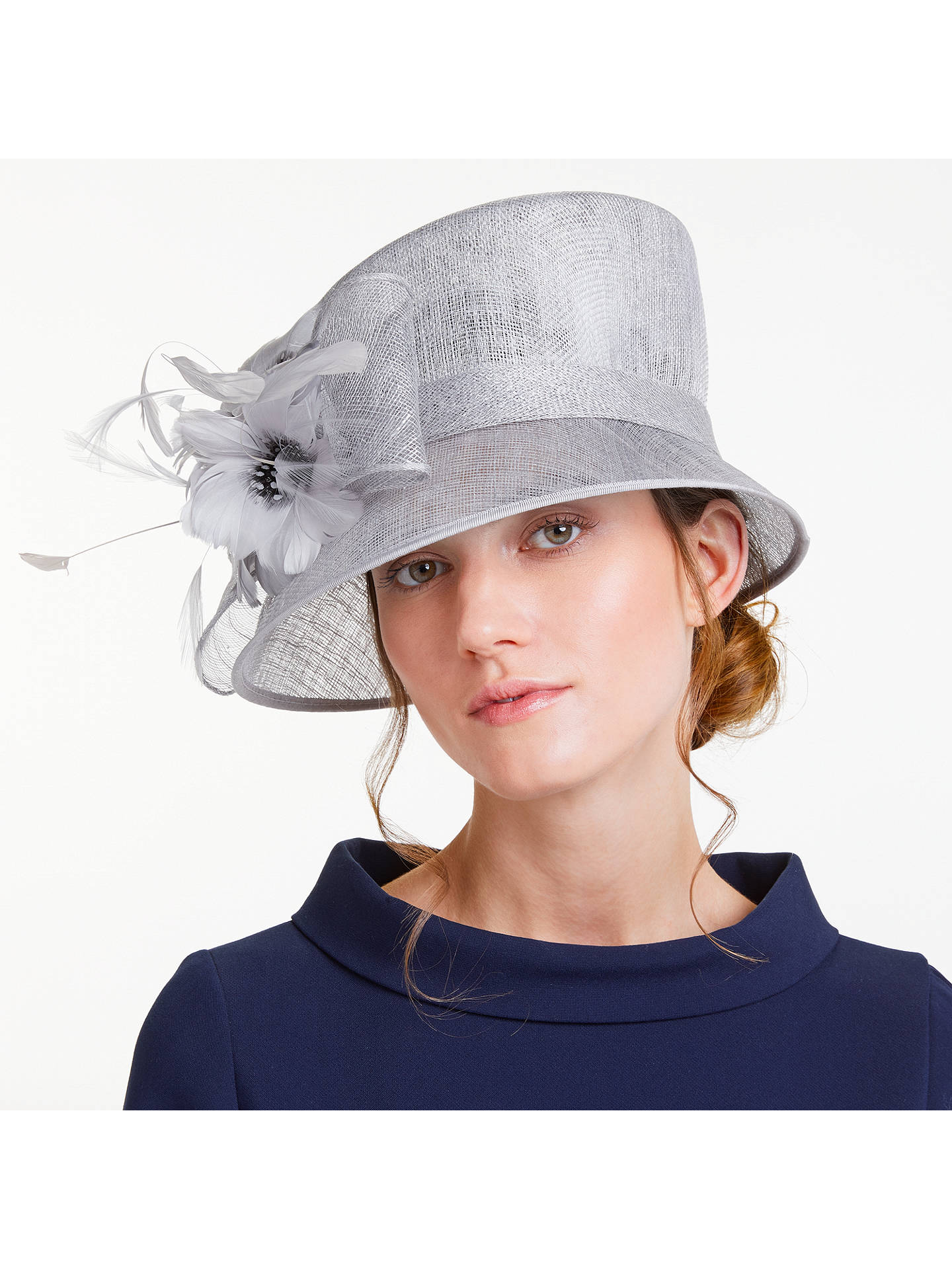 6c686e41a3bc0 Buy John Lewis   Partners Irene Down Brim Spot Feather Flower Occasion Hat
