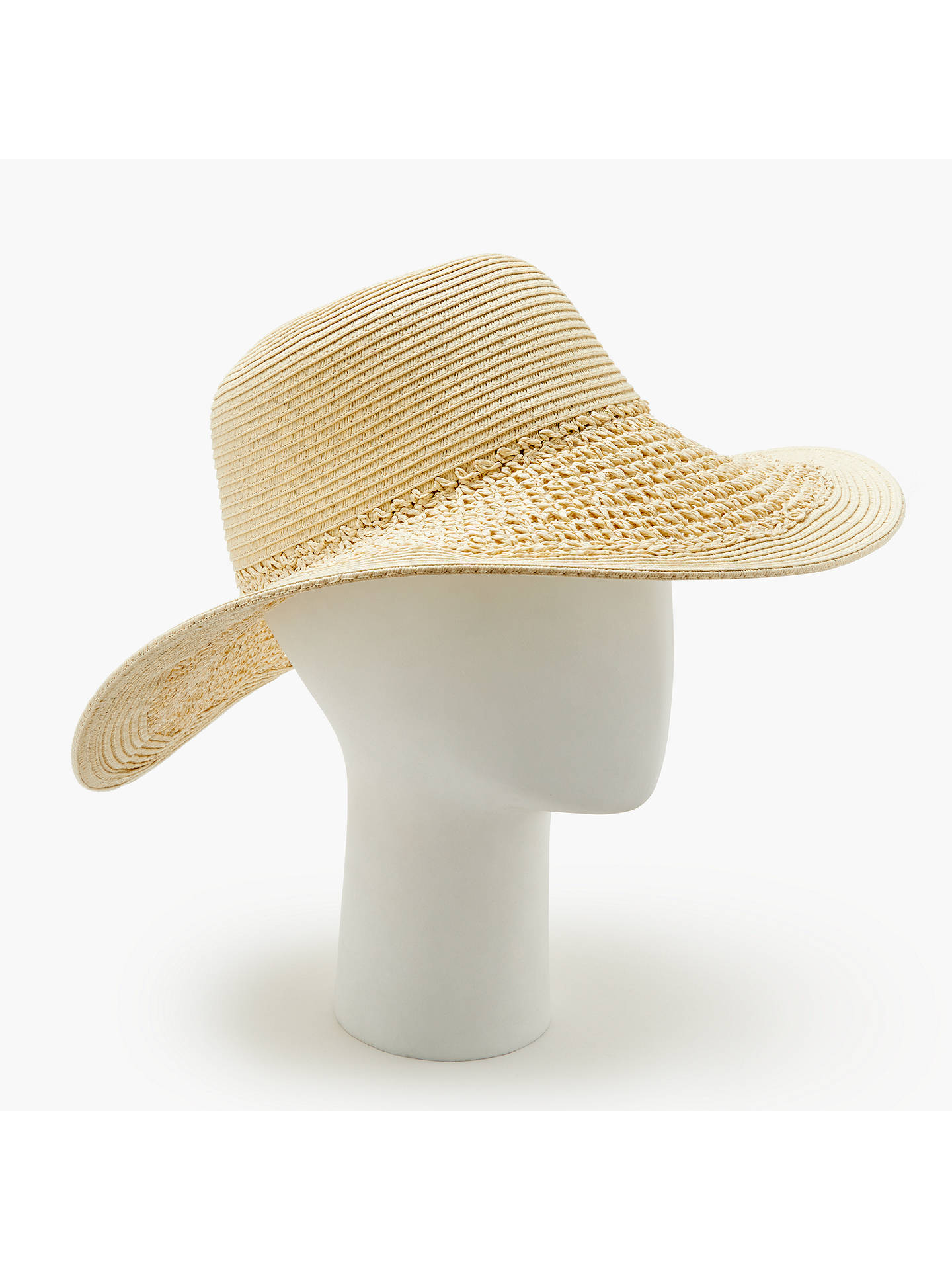 399159038d67f Buy John Lewis   Partners Packable Weave Mix Floppy Sun Hat