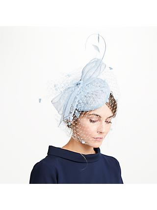 John Lewis   Partners Sianne Sinamay Pillbox Veil Bow Fascinator 6052d032c67