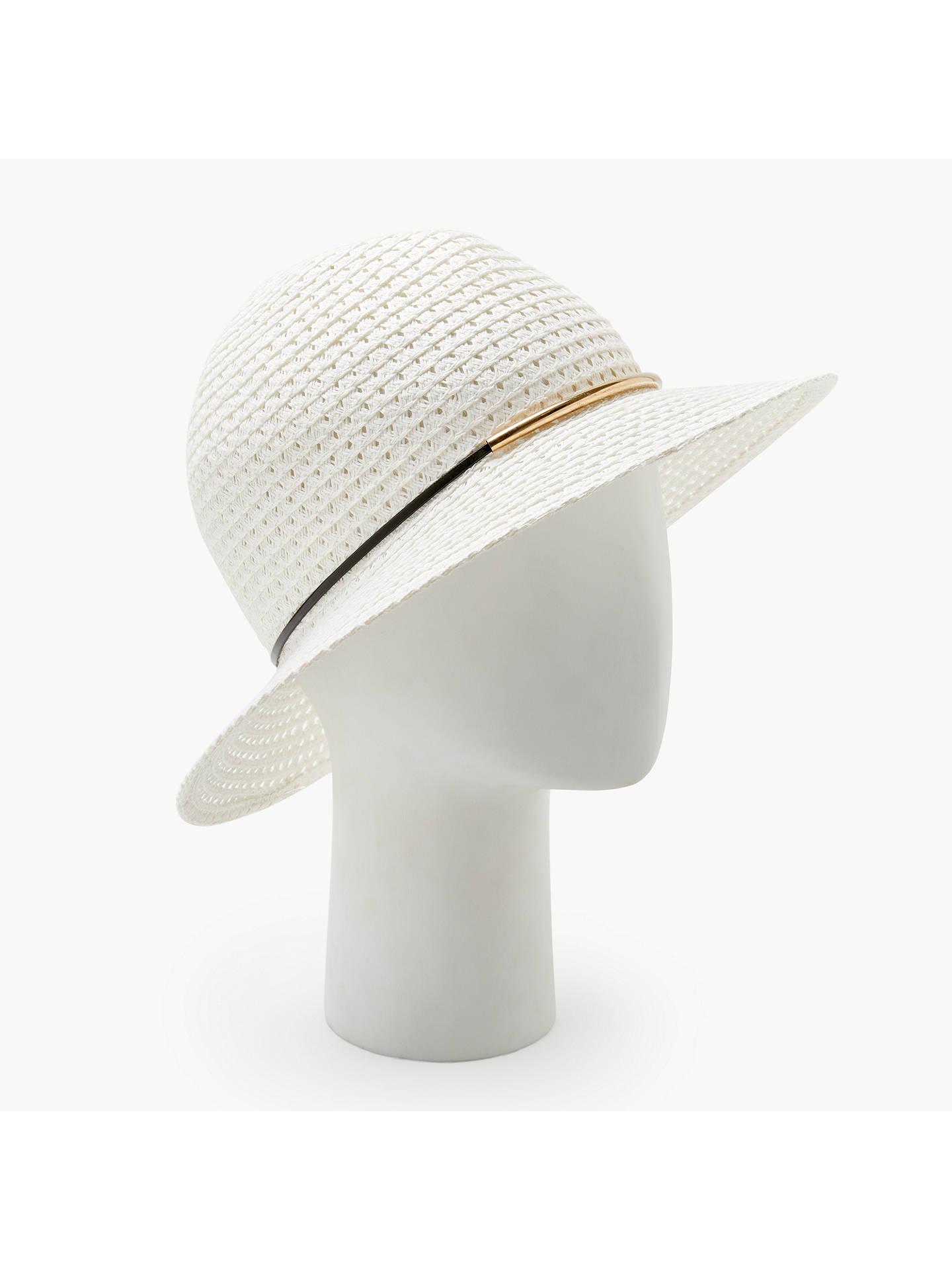 ef609b0700b Buy John Lewis   Partners Packable Metal Trim Fedora Hat