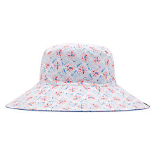 Buy Joules Celia Reversible Floral Sun Hat, White/Multi Online at johnlewis.com
