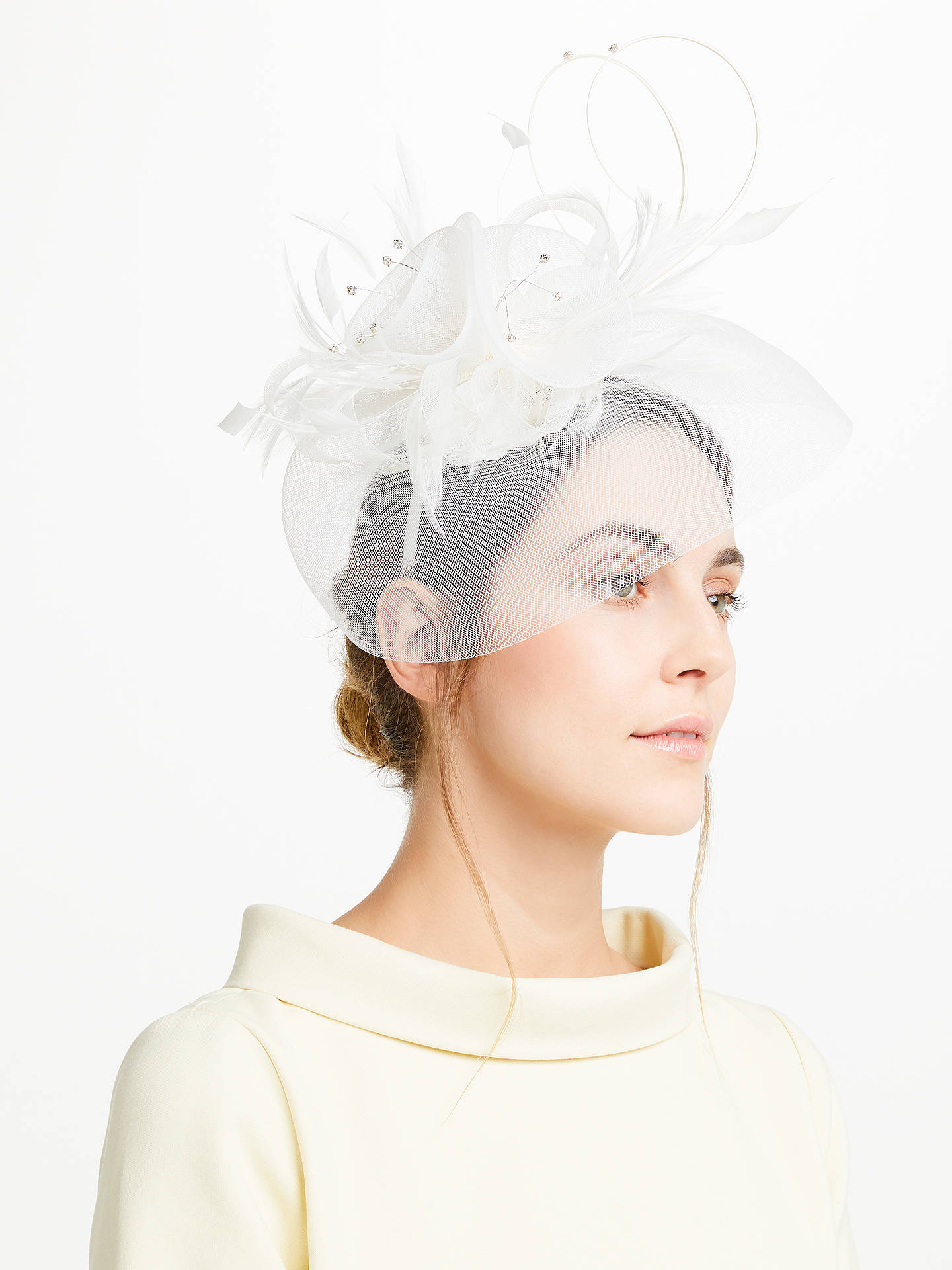 Buy John Lewis & Partners Crin Diamante Fascinator, Ivory Online at johnlewis.com