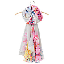 Buy Joules Harmony Whitstable Floral Scarf, Silver/Multi Online at johnlewis.com