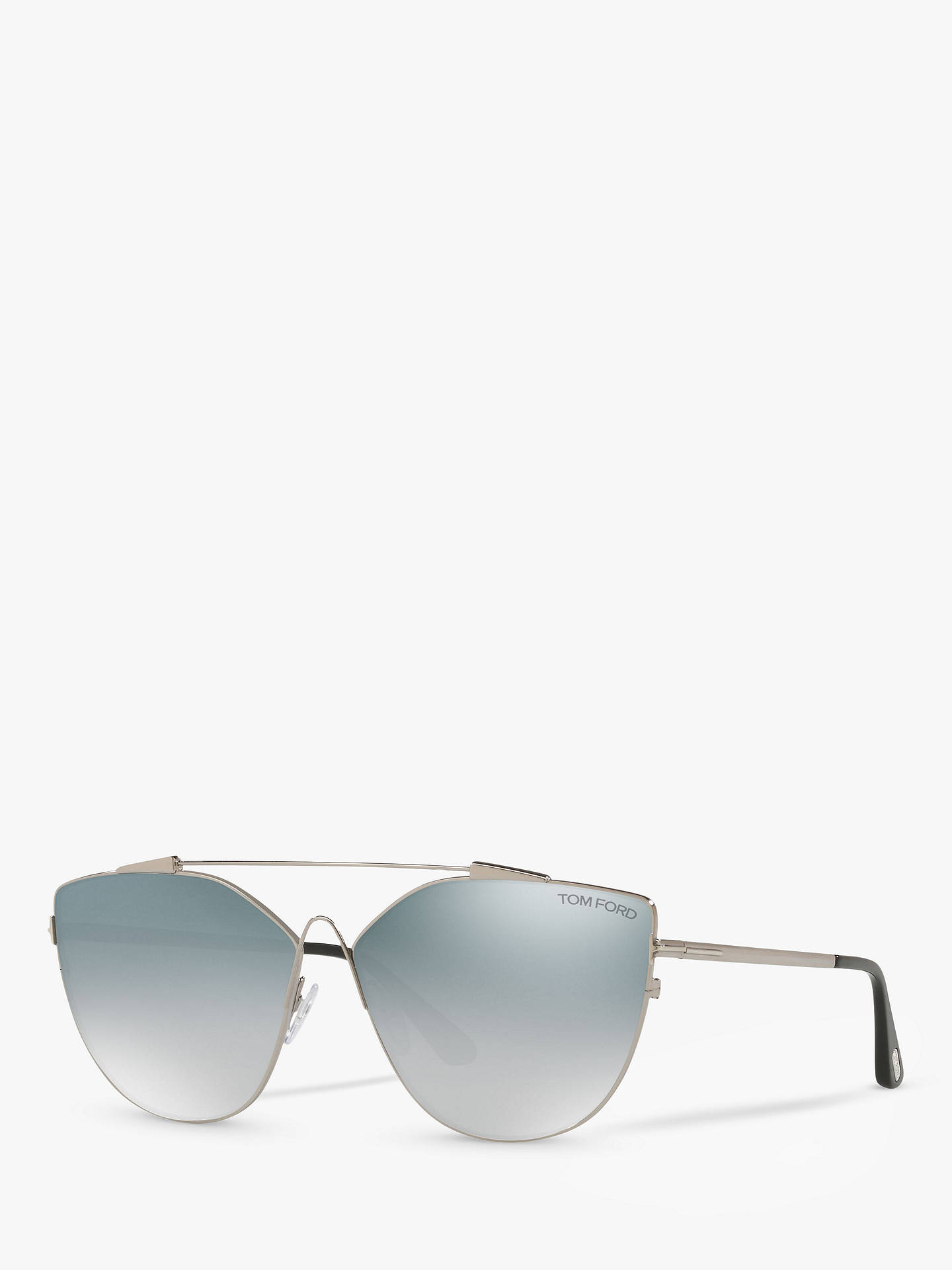 Buy TOM FORD FT0563 Jacquelyn Cat's Eye Sunglasses, Silver/Blue Gradient Online at johnlewis.com