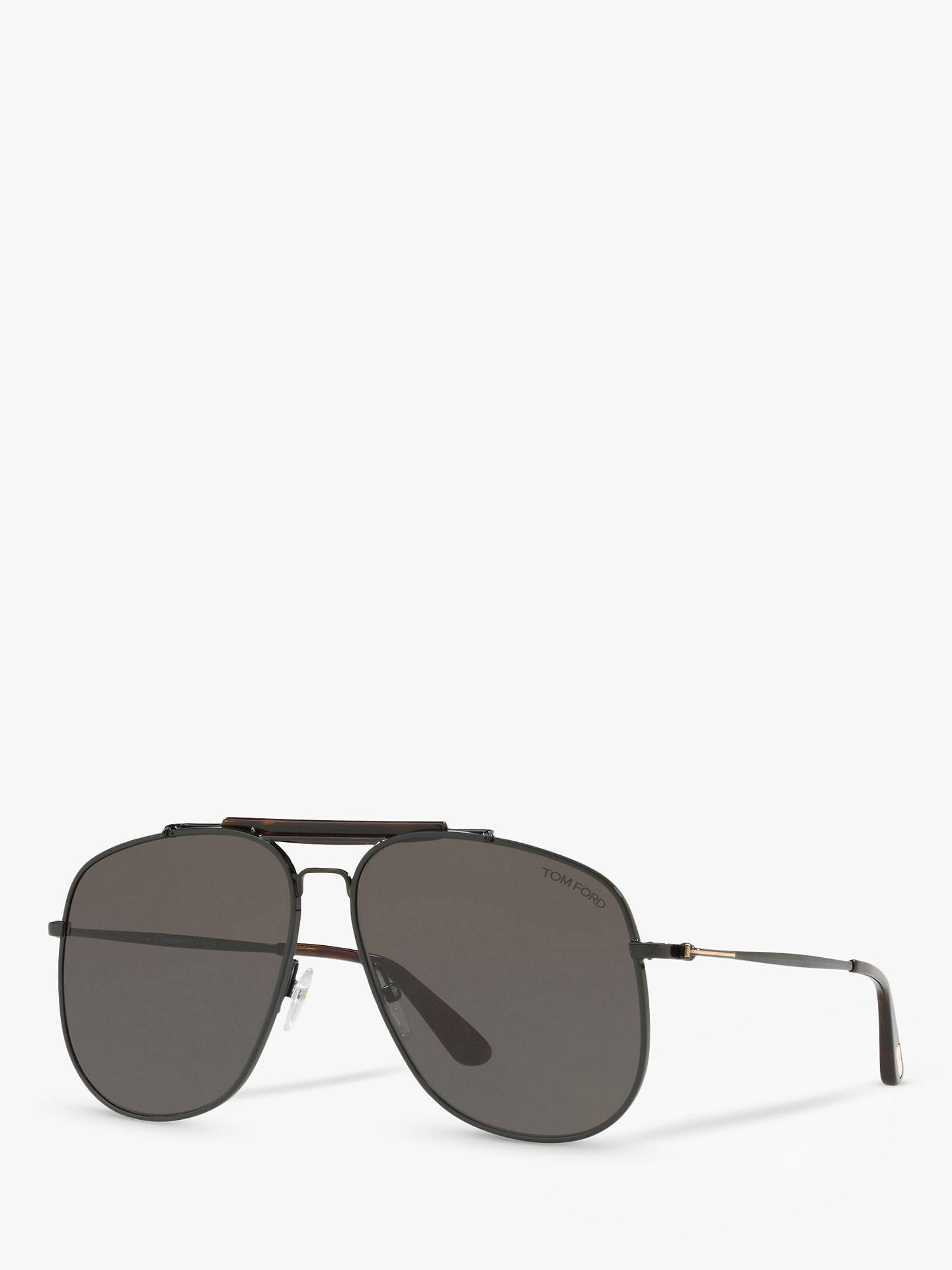 b11fdcea8f Buy TOM FORD FT0557 Connor Aviator Sunglasses, Black/Grey Online at  johnlewis.com ...
