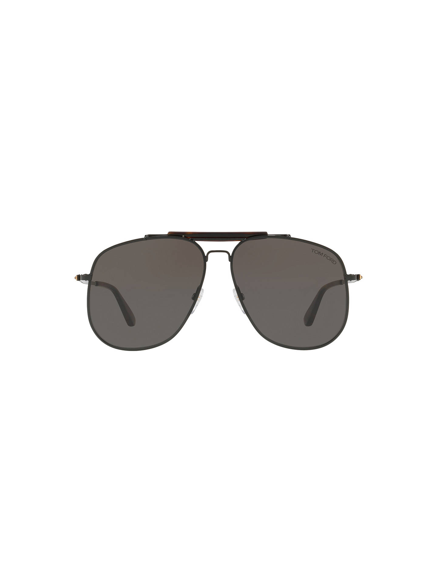 BuyTOM FORD FT0557 Connor Aviator Sunglasses, Black/Grey Online at johnlewis.com