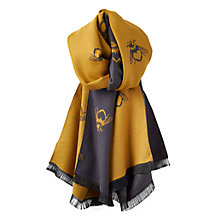 Buy Joules Jacquelyn Bee Print Scarf, Gold/Black Online at johnlewis.com