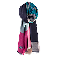 Buy Joules Berkley Stripe and Colour Block Scarf, Navy/Multi Online at johnlewis.com