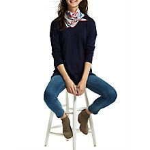 Buy Joules Bloomfield Floral Silk Square Scarf, Multi Online at johnlewis.com