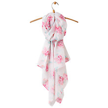Buy Joules Wensley Floral Print Scarf, Lilac/Multi Online at johnlewis.com