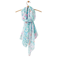 Buy Joules Wensley Secret Garden Print Scarf, Mint/Multi Online at johnlewis.com